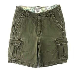Hollister Co. Green Houley Cargo Shorts